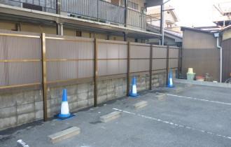 駐車場フェンス工事施工後
