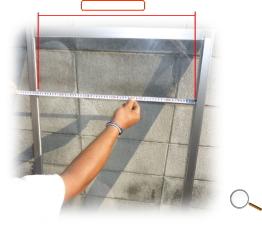 ガラスの測り方幅