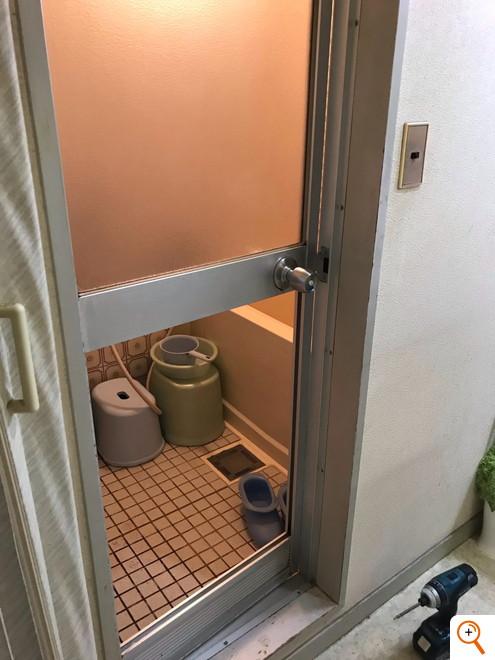 浴室ガラス割れ替え工事
